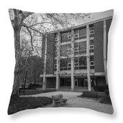 Hopkins Hall Osu Black And White  Throw Pillow