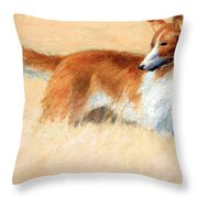 Hopper's Cape Cod Evening -- The Dog Throw Pillow