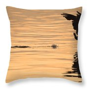 Hopping On Water Throw Pillow