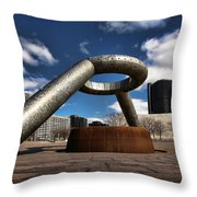 Horace Dodge Fountain Hart Plaza Detroit Michigan  Throw Pillow
