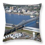 Horace Wilkinson Bridge Throw Pillow