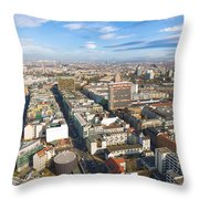 Horizontal Aerial View Of Berlin Throw Pillow