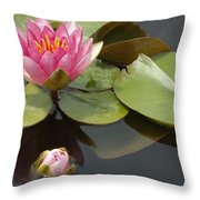 Horizontal Lily And Bud Throw Pillow