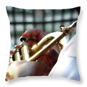 Horn Player Pk 0071 Throw Pillow