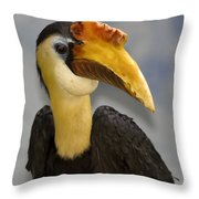 Hornbill 2 Throw Pillow