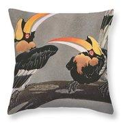 Hornbills Throw Pillow