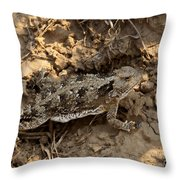 Horned Lizard   #8888 Throw Pillow