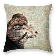 Horned Throw Pillow by Priska Wettstein