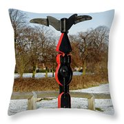 Horninglow Linear Park Signpost Throw Pillow