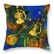 Horns And Other Things Throw Pillow