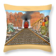 Horn's Junction Throw Pillow
