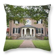 Hornsby House Inn Yorktown Throw Pillow by Teresa Mucha