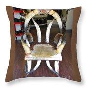 Horny Chair Throw Pillow