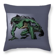 Horrid Creature Throw Pillow
