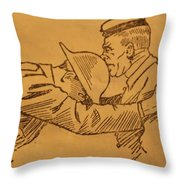 Hors De Combat Throw Pillow