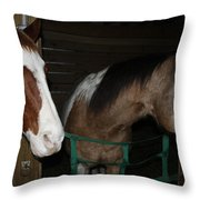 Horse 11 Throw Pillow