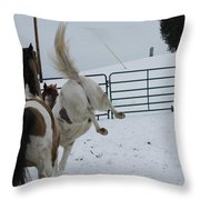 Horse 13 Throw Pillow