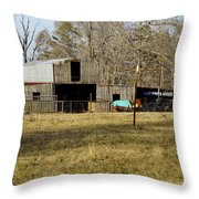 Horse And Barn Throw Pillow