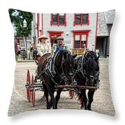 Horse And Buggy Sc3643-13 Throw Pillow