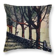 Horse And Fence Throw Pillow