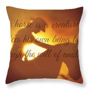 Horse And Rider Silhouette  Throw Pillow
