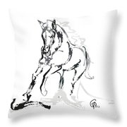 Horse- Andalusian Angel Throw Pillow