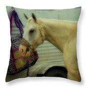 Horse Art 2 Throw Pillow