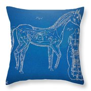 Horse Automatic Toy Patent Artwork 1867 Throw Pillow by Nikki Marie Smith