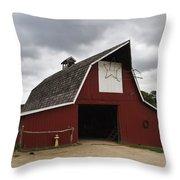 Horse Barn Throw Pillow