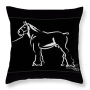 Horse - Big Fella Throw Pillow