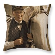 Horse Carriage Driver 1 Throw Pillow