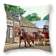 Horse Carriage Throw Pillow