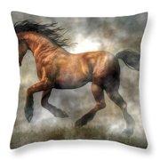 Horse Throw Pillow by Daniel Eskridge