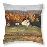 Horse Farm Throw Pillow
