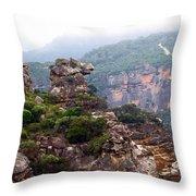 Horse Head Rock Throw Pillow