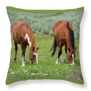 Horse Heaven Throw Pillow
