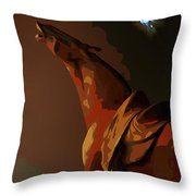 Horse Howl Throw Pillow