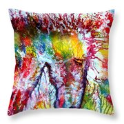 Horse In Abstract Throw Pillow