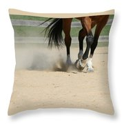 Horse In Motion Throw Pillow