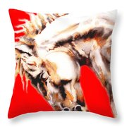 E   P   I   C   U   S    In Red Throw Pillow