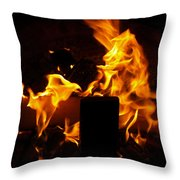 Horse In The Fire Throw Pillow