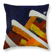 Horse Mountains Throw Pillow
