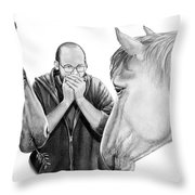 Horse Music Throw Pillow