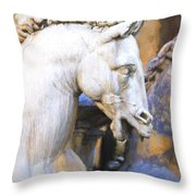 Horse Of Neptune Throw Pillow