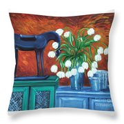 Horse On The Cupboard Throw Pillow