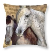 Horse One Throw Pillow