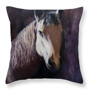 Horse Painting Throw Pillow