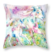 Horse Painting.17 Throw Pillow