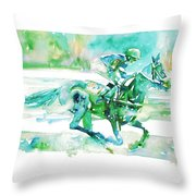 Horse Painting.18 Throw Pillow
