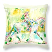 Horse Painting.19 Throw Pillow